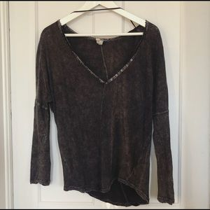 Free People Asymmetrical Hem Tee
